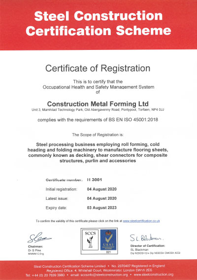 BS ISO 45001 Certificate